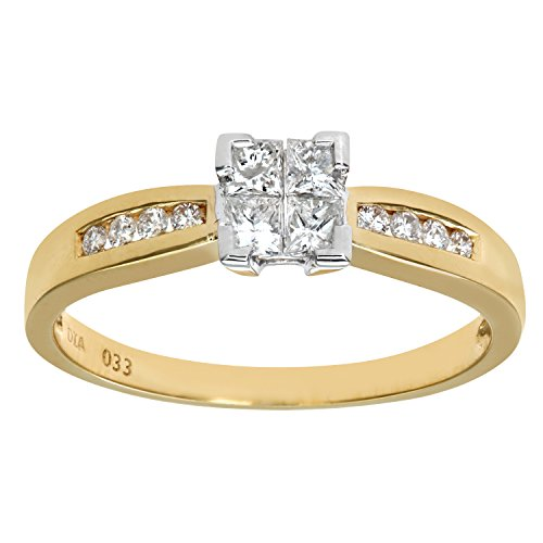 Bague-de-Fianailles-PR6497-18KY-L-Femme-Or-jaune-18-cts-25-Gr-Diamant-T-52-0