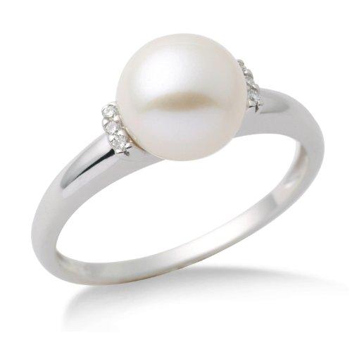 Miore-MG9006RO-Bague-Femme-Or-blanc-3751000-9-carats-179-gr-perle-et-diamants-T-54-0