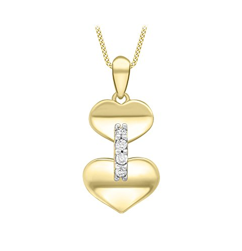 Carissima-Gold-Femme-Collier-avec-pendentif-coeur-Or-jaune-9-Carat-Oxyde-de-zirconium-1449244-0