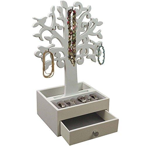 Arbre--Bijoux-avec-6-crochets-Bote--Bijoux-Blanc-0