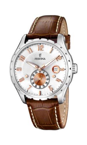 Festina-F164863-Montre-Homme-Quartz-Analogique-Bracelet-Cuir-Marron-0