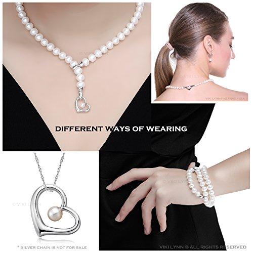 soldes collier avec perle pendentif coeur bijoux femme de perle blanche classe aaa 3 styles de. Black Bedroom Furniture Sets. Home Design Ideas