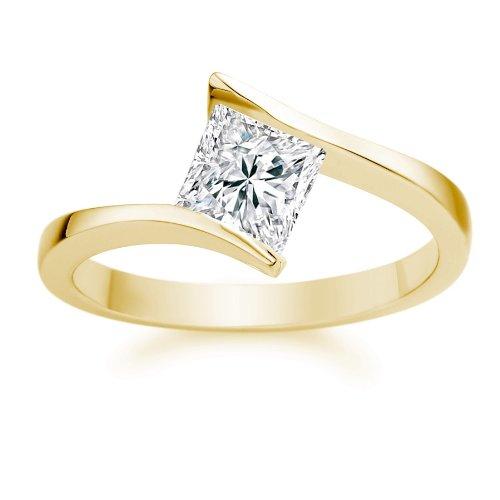 Diamond-Manufacturers-Bague-de-fiancailles-avec-diamant-Princesse-Femme-Or-jaune-7501000-18-cts-Diamant-030-ct-0