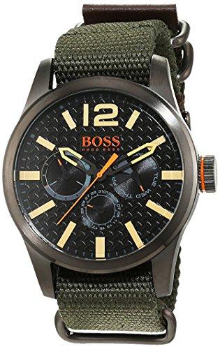 BOSS-Orange-1513312-Montre-Homme-Quartz-Analogique-Bracelet-Textile-Vert-0