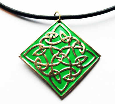 Pendentif nœuds celtiques bronze