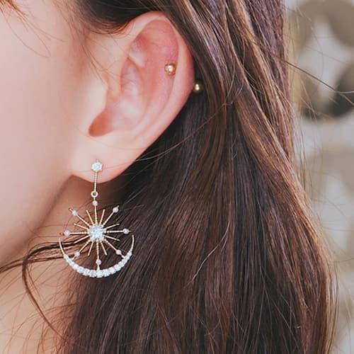 Boucles d'oreilles Crystal Solaire