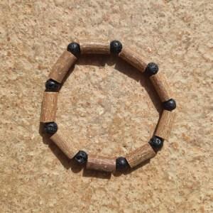 Bracelet Pierres de Lave noire
