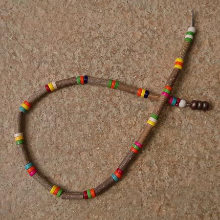 Collier noisetier perles heishi
