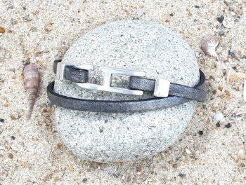 Bracelet homme argent vieilli