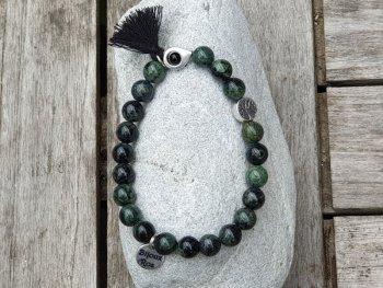 Bracelet élastique jaspe kambaba