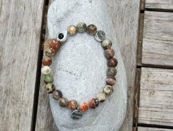Bracelet élastique jaspe opalite