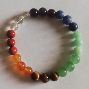 bracelet 7 chakras 8mm
