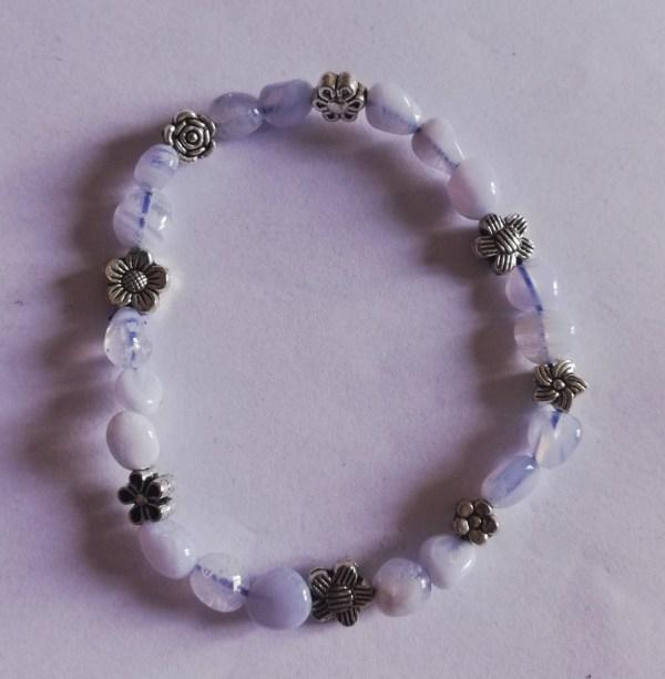 Bracelet fleur et Calcédoine