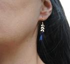 boucles d oreilles epi dore et pompon bleu p (Copier)
