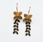 boucles d oreilles fleur epi noir (Copier)