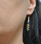 boucles d'oreilles epi dore et swarovski bleu (Copier)