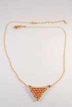 collier doré peyote orange 2 (Copier)