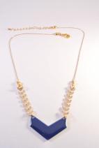 collier dore chevron bleu (Copier)