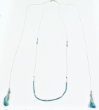 sautoir argente bleu rocaille et pompon 2 (Copier) (2)