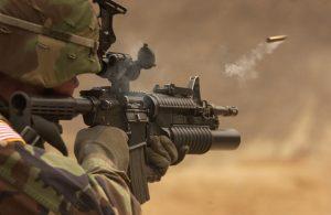 militair in actie