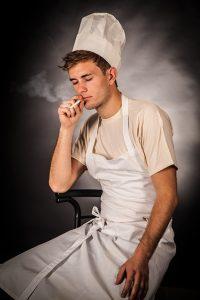 roken en blootstelling aan stof