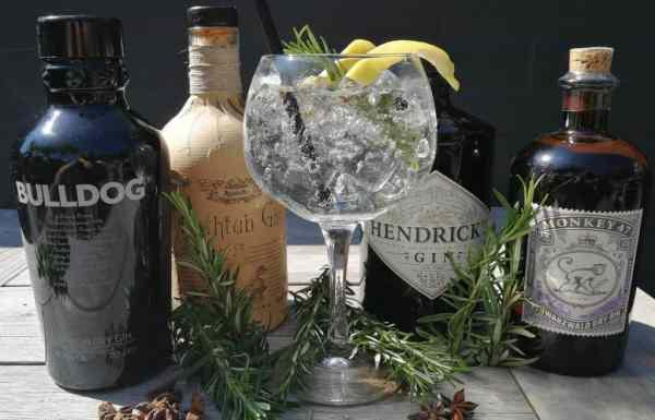 Gin Tonic Menu Berghotel Amersfoort