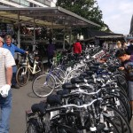Selling bikes at Antwerp's market