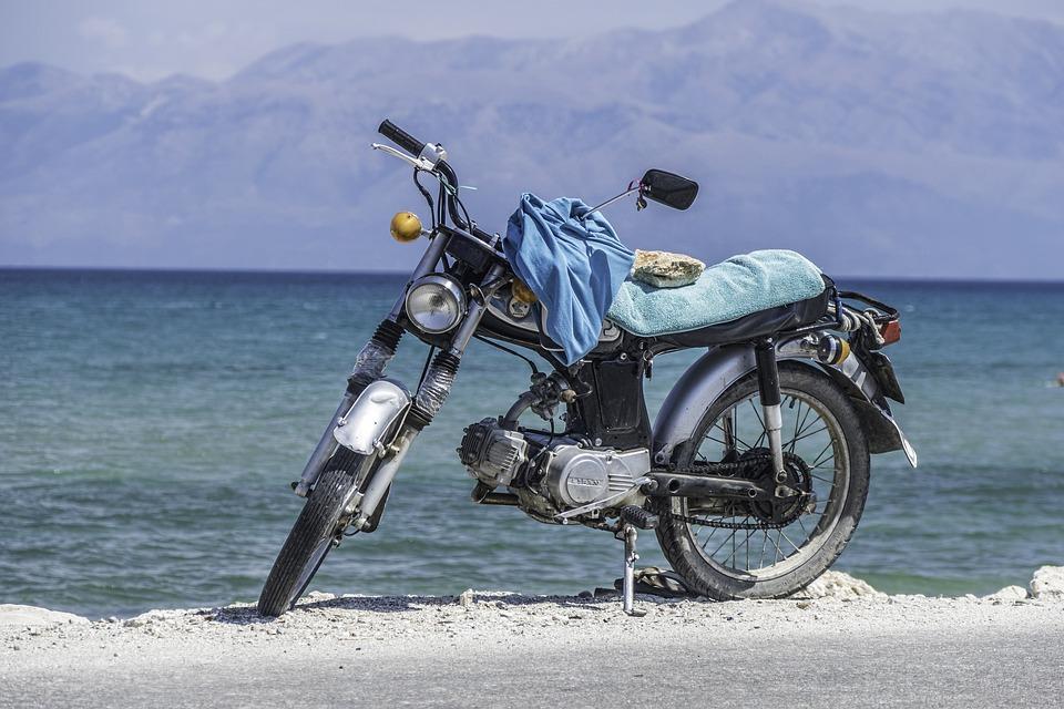 海 オートバイ バイク 旧車