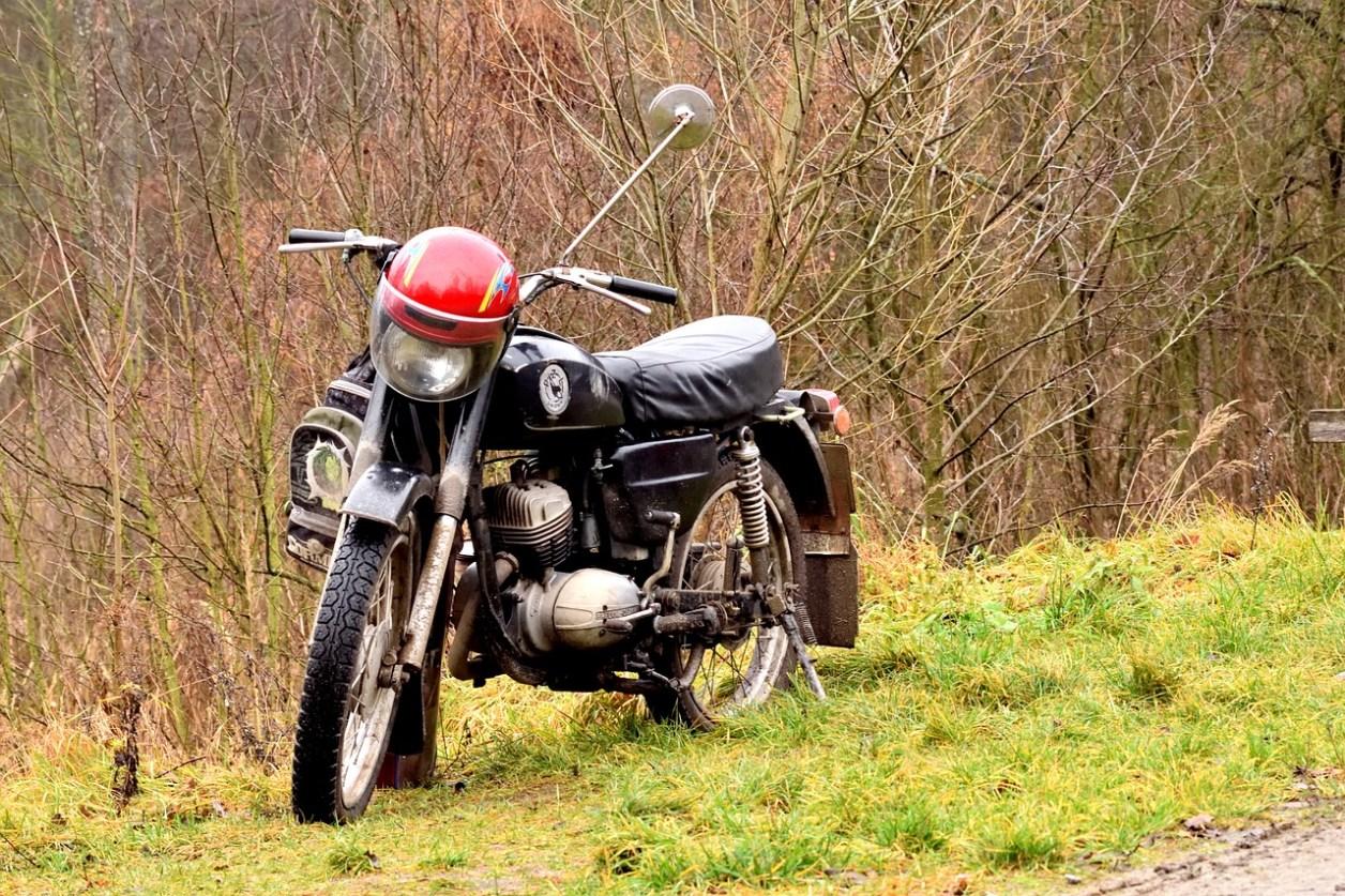 オートバイ 森 自然