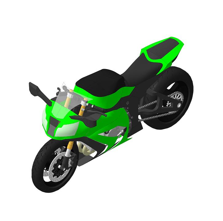 オートバイ 緑 カワサキ