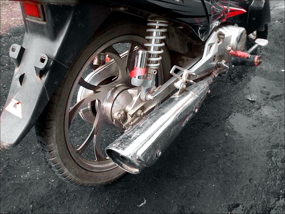 マフラー 金属 オートバイ 排気 ホイール モータ 自転車 エンジン 交通 車両