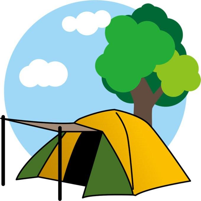 テントと木