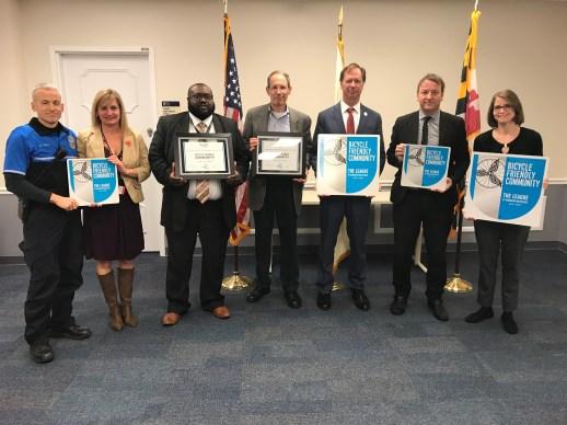 County, City and BikeAAA Leaders Receive the Bronze BFC Award
