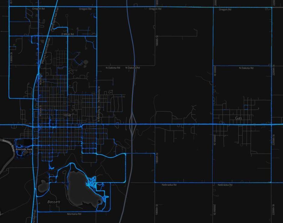 Allen County Heatmap Iola 2016-03