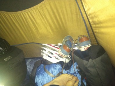 All our gear in the 2 man tent