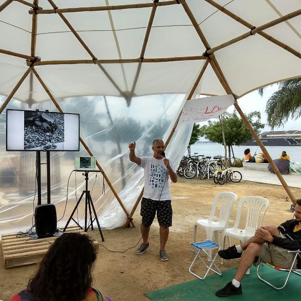 Cacau Sobral, do Bike Anjo Recife, apresenta o @pedalinoveomundo