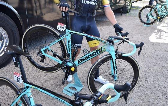A Bianchi Oltre XR4s de Primož Roglič e Dylan Groenewegen no Tour de France 2018 (9)