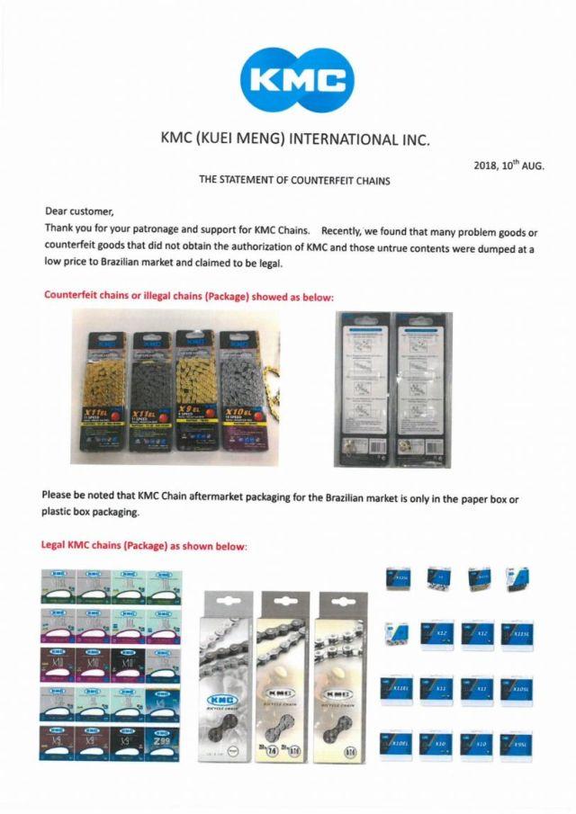 KMC alerta para correntes falsificadas a venda no Brasil (3)