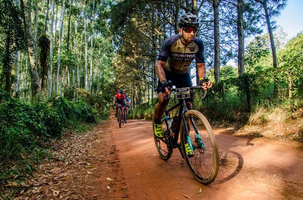 Ciclistas formam pelotão (Ney Evangelista - Brasil Ride)