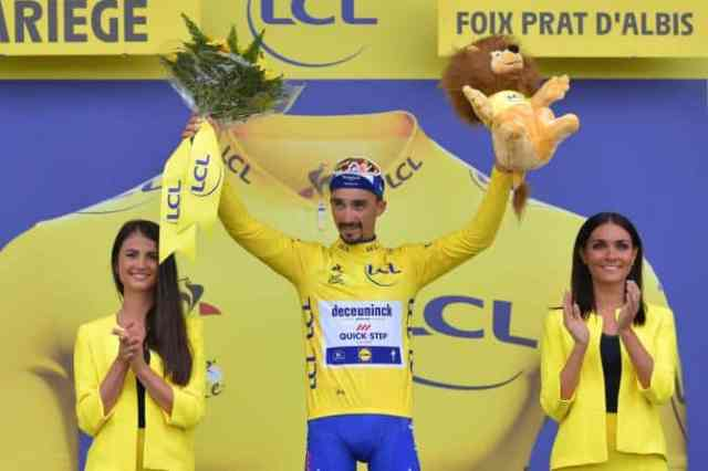 Tour de France 2019 15ª etapa – Julian Alaphilippe com a camisa amarela (1)
