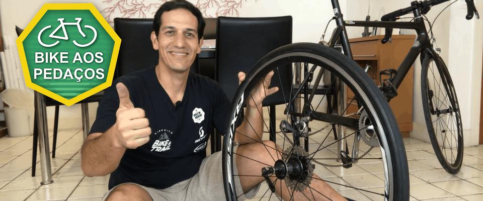 como trocar o pneu da bicicleta