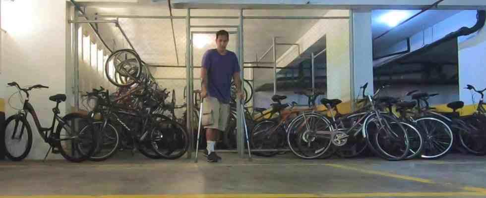 Bicicletário no prédio