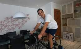 pedal no rolo fixo