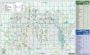Brampton Parks Trails & Recreation Map