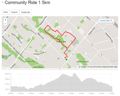 Community Ride 1 -5km Map_500