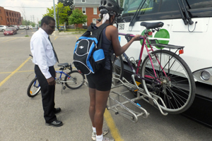 GO Bus bike rack