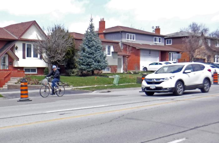 shopping cyclist COVID lanes