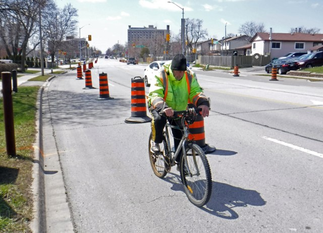 utilitarian cyclists COVID lanes