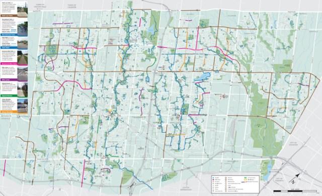 Brampton Cycling Map 2018