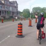 Lisa cycling bike lane